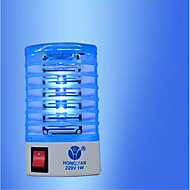1pcs ny 220v / 110v fly bug insektfelle zapper reppller ledet elektrisk mygg drapsmann nattlampe med eu plug