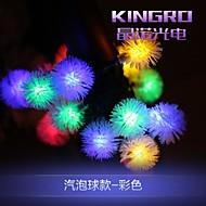 King Ro 6.5M 20LED Solar String lights Fancy Ball Shaple Lamp fine Wedding String Lights
