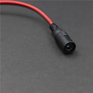 5.5mm x 2.1mm Male DC Power Connector - Black (28cm)