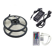 Z®ZDM 2×5M 150X5050 SMD RGB LED Strip Light and 44Key Remote Controller EU US UK AU(AC110-240V)