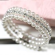 Damen Wickelarmbänder Mehrlagig Modeschmuck Perle Künstliche Perle Strass Diamantimitate Aleación Schmuck Für Alltag Normal
