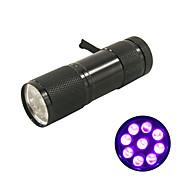 New! Mini UV ULTRA VIOLET 9 LED FLASHLIGHT BLACK LIGHT Torch Light Lamp