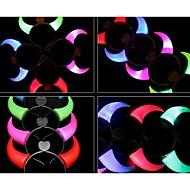 LED-belysning rådjur form julfest dekoration hår pannband (slumpvis färg)