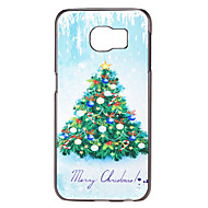 Christmas Tree With Bells Pattern PC Hard Back Cover Case for Samsung Galaxy S6