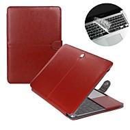 """mode 2 i 1 pu læder laptop tilfælde dække til MacBook Air 11 """"/ 13"""" + gennemsigtigt tastatur cover protecter"""