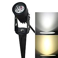 Jiawen 3W 3-LED lampa trawnik wkładka biały / ciepłe białe światło 270lm 6500K / 3200K - czarny (AC 85 ~ 265V)