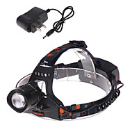 Lights Headlamps / Bike Lights LED 1200 Lumens 3 Mode Cree XM-L T6 18650Adjustable Focus / Waterproof / Rechargeable / Strike Bezel /