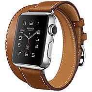Hoco Fashion Cow Leather Classic Band with Metal Buckle Strap for Iwatch 38mm 42mm Double Tour and Cuff