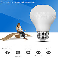 1 шт 7w E26 / E27 Smart LED голосом управляется&оптически контролируется лампочка коридор лампа 220В индукционного