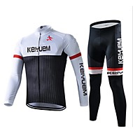 KEIYUEM Moto/Ciclismo Camiseta / Meia-calça / Conjuntos de Roupas/Ternos Unissexo Manga CompridaImpermeável / Respirável / Isolado /
