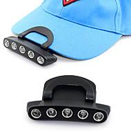 2015 neuen, einstellbaren Winkel Clip cap Lampe auf dem 5 LED-Fischköder Kopflampe Batterie CR2032