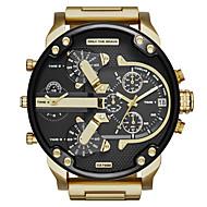 moda relógio militar relógio de aço de quartzo movimento de vários homens