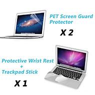 """membrane de poignet de métal reste du film protecteur et l'écran tactile + protection écran de garde claire pour 11.6 """"/13.3"""" macbook air"""