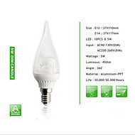 1 Stück SHARP-RAYS Dekorativ / Dimmbar LED Kerzen-Glühbirnen S14 E14 / E12 5W 450 LM 3000K/6000K K 10PCS SMD 5730Warmes Weiß / Kühles