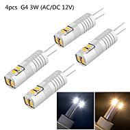 2W G4 LED betűzős izzók T 6 SMD 3014 180 lm Meleg fehér / Hideg fehér Dekoratív DC 12 / AC 12 V 4 db.