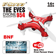 """ג'יירו החדש fq777 ההגעה 954 ננו 6axis FPV המזל""""ט המצלמה wifi ננו quadcopter RC עם BNF FPV HD מצלמה"""