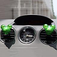2pcs Zufallsmickymaus Form Duft Auto Vent Lufterfrischer Anschluss-Duftstoff