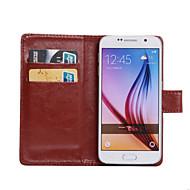 Mert Samsung Galaxy tok Kártyatartó / Állvánnyal / Flip / 360° forgás Case Teljes védelem Case Egyszínű Műbőr SamsungS Advance / Xcover 3