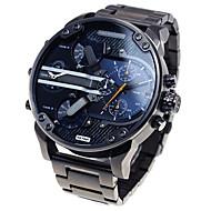 reloj de acero del cuarzo de múltiples movimiento del reloj militar moda masculina