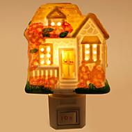 kreative Design-Ferienhaus-förmigen Keramik-Lampe Nachtlicht Nachttischlampe Duftfestivalgeschenk
