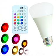 1 pcs SchöneColors E26/E27 10W 800LM RGBW A60(A19)Remote-Controlled/Music-controlled  LED Globe BULB AC100-240V