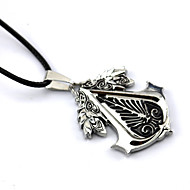 Jewelry Inspired by Assassin's Creed Connor Anime/ Video Games Cosplay Accessories Necklace Black / Red / Yellow Alloy Male