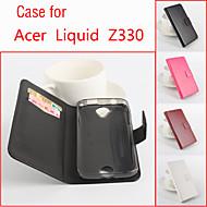 Mert Acer tok Kártyatartó / Állvánnyal / Flip Case Teljes védelem Case Egyszínű Kemény Műbőr mert Acer
