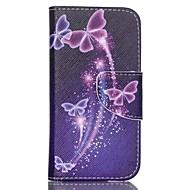 gekleurde vlinders geschilderd pu telefoon geval voor ipod touch5 / 6