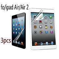 3pcs haute transparence lcd cristal professionnelle protecteur d'écran avec chiffon de nettoyage pour iPad air / air 2