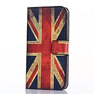 Για Samsung Galaxy Θήκη Θήκη καρτών / με βάση στήριξης / Ανοιγόμενη / Με σχέδια / Μαγνητική tok Πλήρης κάλυψη tok Σημαία Συνθετικό δέρμα