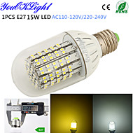 1 stuks YouOKLight E26/E27 15 W 138 SMD 3528 1300 LM Warm wit / Koel wit T Decoratief Maïslampen AC 220-240 / AC 110-130 V
