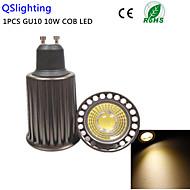 1stk GU10 10W 3000K 1high power cob led spotlampe ac85-265v (højere køleeffektivitet&høj kvalitet&genoprette gamle måder)