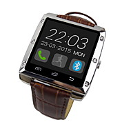 """Bluetooth v4.0 metalowa obudowa Skórzany pasek 1,44 """"TFT inteligentny zegarek z krokomierze spać tracker"""