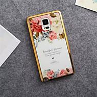 Varten Samsung Galaxy Note Kuvio Etui Takakuori Etui Kukka TPU Samsung Note 5 / Note 4