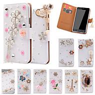 Pour Samsung Galaxy Note Porte Carte / Strass / Avec Support / Clapet Coque Coque Intégrale Coque Brillant Cuir PU SamsungNote 5 / Note 4