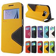 For Samsung Galaxy Note7 Kortholder Med stativ Flip Etui Heldækkende Etui Helfarve Hårdt Kunstlæder for SamsungNote 7 Note 5 Note 4 Note