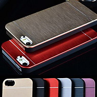 Metal Aluminum Brushed & PC Hard Back Case for iPhone 5/5S (Assorted Colors)