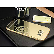 specielle design af høj kvalitet, ensfarvet metal kofanger plating spejl tilbage Cover til Samsung s6