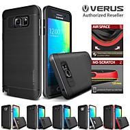 Mert Samsung Galaxy Note Ütésálló / Galvanizálás Case Hátlap Case Egyszínű TPU Samsung Note 5 / Note 4