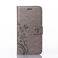 Πλήρης Σώμα πορτοφόλι / Βάση Καρτών / με Stand / Ανάγλυφο Πεταλούδα Συνθετικό δέρμα Σκληρό Case Cover για το HuaweiHuawei P8 Lite /