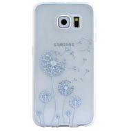 Voor Samsung Galaxy hoesje Transparant / Patroon / Reliëfopdruk hoesje Achterkantje hoesje Paardenbloem TPU SamsungS6 edge plus / S6 edge