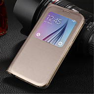 Original PU Leather Smart Auto-Sleep Full Body Case for Samsung Galaxy S6 G9200