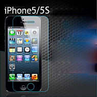 Película frontal transparente de vidro temperado 1pc tela para iphone 5 / 5s / 5c