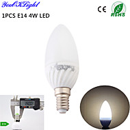 YouOKLight® 1PCS E14 4W   6-SMD5730 320LM 3000K Warm white High quality  ceramic LED Candle light (AC110-120V/220-240V)
