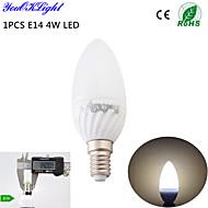 youoklight® 1stk E14 4W 6-smd5730 320lm 3000K varm hvid høj kvalitet keramik førte candle light (ac110-120v / 220-240V)