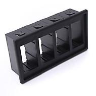 4黒いプラスチックロッカースイッチクリップパネルホルダー住宅のARBカーリング型iztoss
