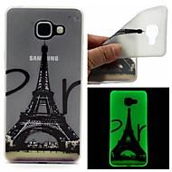 Varten Samsung Galaxy kotelo Hehkuu pimeässä / Himmeä / Läpinäkyvä / Kuvio Etui Takakuori Etui Eiffelin torni TPU SamsungA7(2016) /