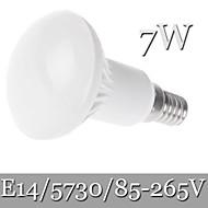 7W E14 LED-globepærer R50 21LED SMD 5730 600 lm Varm hvid / Kold hvid Justérbar lysstyrke / Dekorativ AC 85-265 V 1 stk.