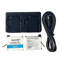 ismartdigi GoPro hjälte 401 batteri 2st 3.8V 1160mah + laddare kit dubbla två batteri USB-laddare för GoPro 4