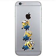 Yellow People Pattern PC Hard Phone Case for iPhone 6 Plus/6S Plus